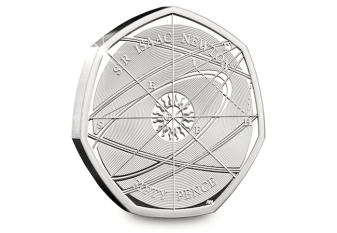 isaac newton silver proof 50p reverse - The Secret Life of Isaac Newton…
