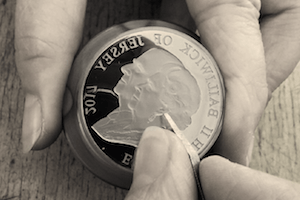 coin engraving image 300x200 - New one-year only double portrait released to celebrate The Queen and Prince Philip's 70 years of marriage