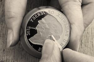 Platinum-Wedding-Coin-Die-Engraving