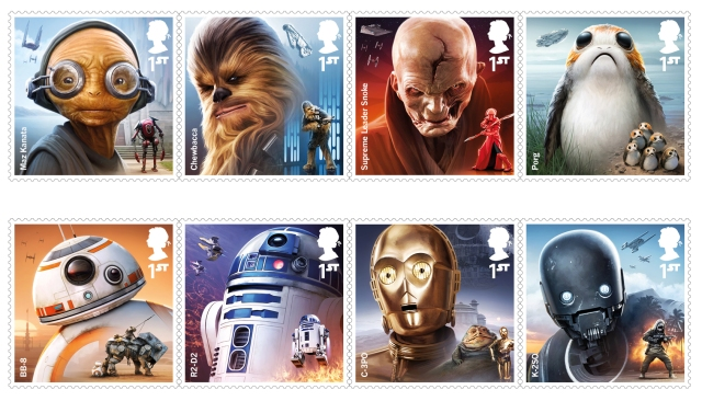 project mars full set 100 - FIRST LOOK: NEW STAR WARS Stamps feature beloved fan-favourites and two NEW characters