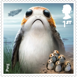 project mars porg stamp 400 - FIRST LOOK: NEW STAR WARS Stamps feature beloved fan-favourites and two NEW characters