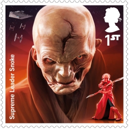 project mars supreme leader snoke stamp 400 - FIRST LOOK: NEW STAR WARS Stamps feature beloved fan-favourites and two NEW characters