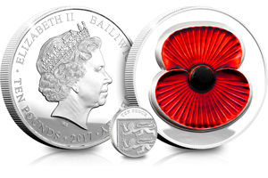 rbl 2017 silver 5oz proof masterpiece poppy coin both sides - Just released: The Masterpiece Poppy Coin that's almost TWICE AS LIMITED as last year's issue...