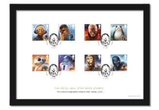 star wars stamps a4 framed collector card - FIRST LOOK: NEW STAR WARS Stamps feature beloved fan-favourites and two NEW characters