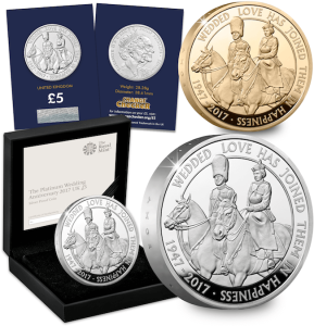 uk platinum wedding all together - New United Kingdom £5 coin released to celebrate the Queen's 70th Wedding Anniversary