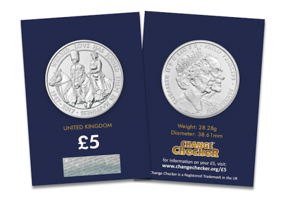 uk platinum wedding cc pack - New United Kingdom £5 coin released to celebrate the Queen's 70th Wedding Anniversary