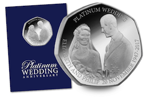 platinum wedding 50p coin - New 50p coins to enter circulation for Platinum Wedding Anniversary
