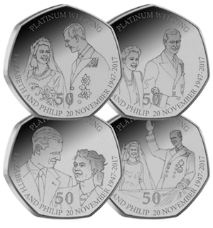 platinum wedding iom 50p all amends 1 - New 50p coins to enter circulation for Platinum Wedding Anniversary