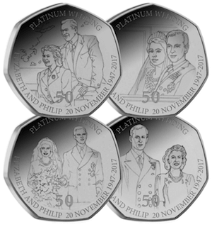 platinum wedding iom 50p all amends 2 - New 50p coins to enter circulation for Platinum Wedding Anniversary